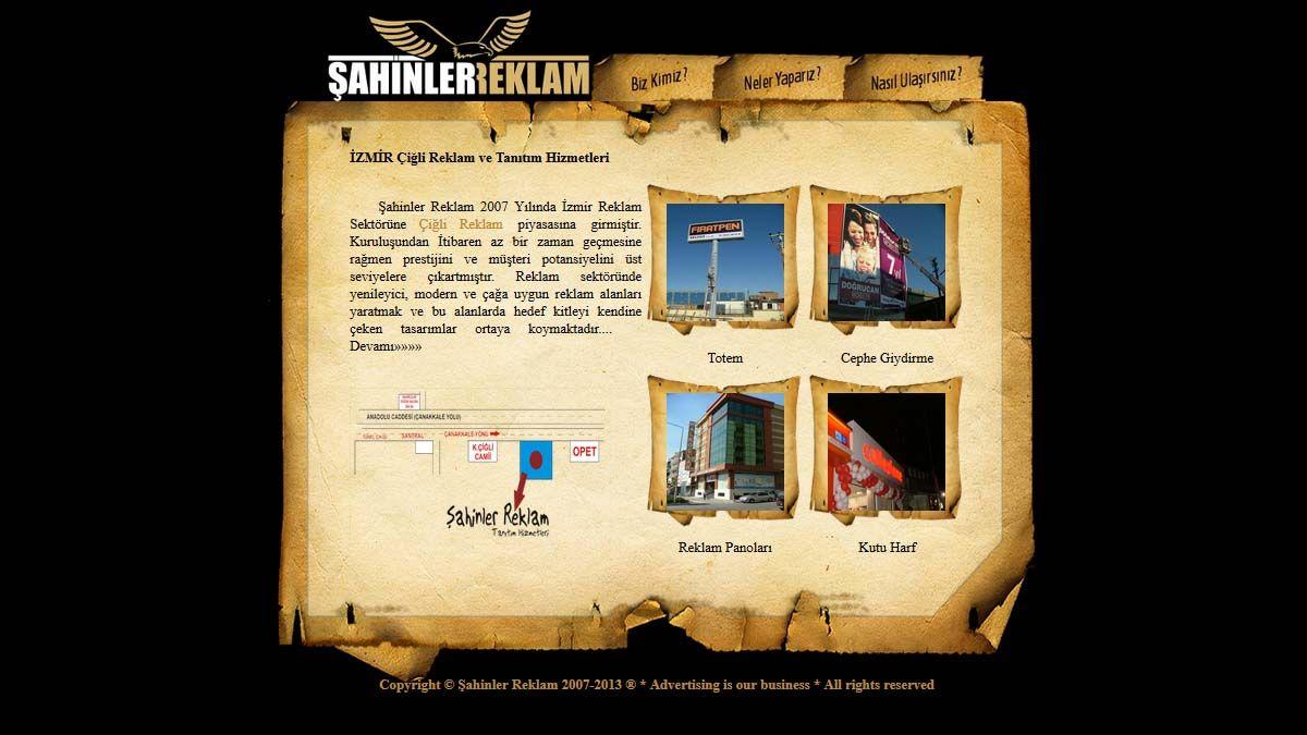 izmir de reklamcı olarak hizmet veren şahinler reklam hizmet alanları, İzmir reklam hizmetleri açıklamaları
